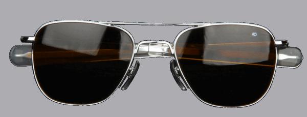 AO Eyewear Original Pilot - silber matt - braun