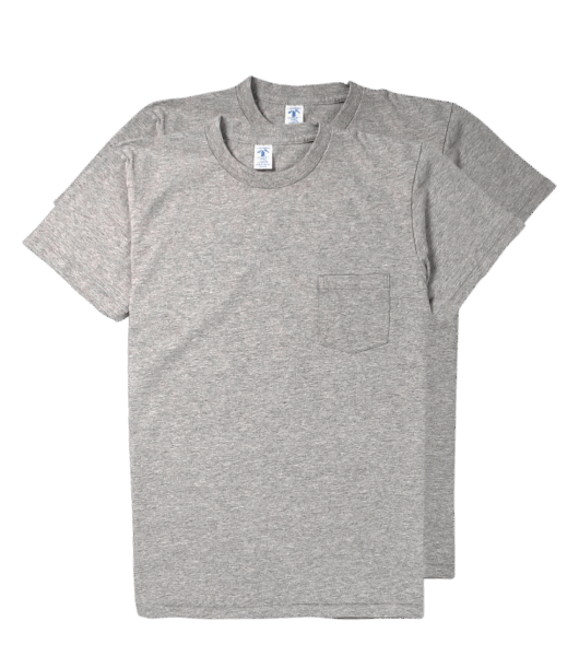Velva Sheen 2Pac Pocket Tee Grey