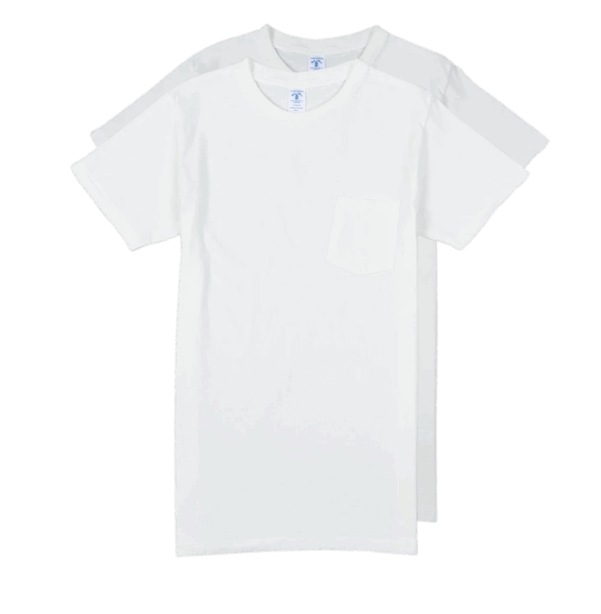 Velva Sheen 2Pac Pocket Tee White