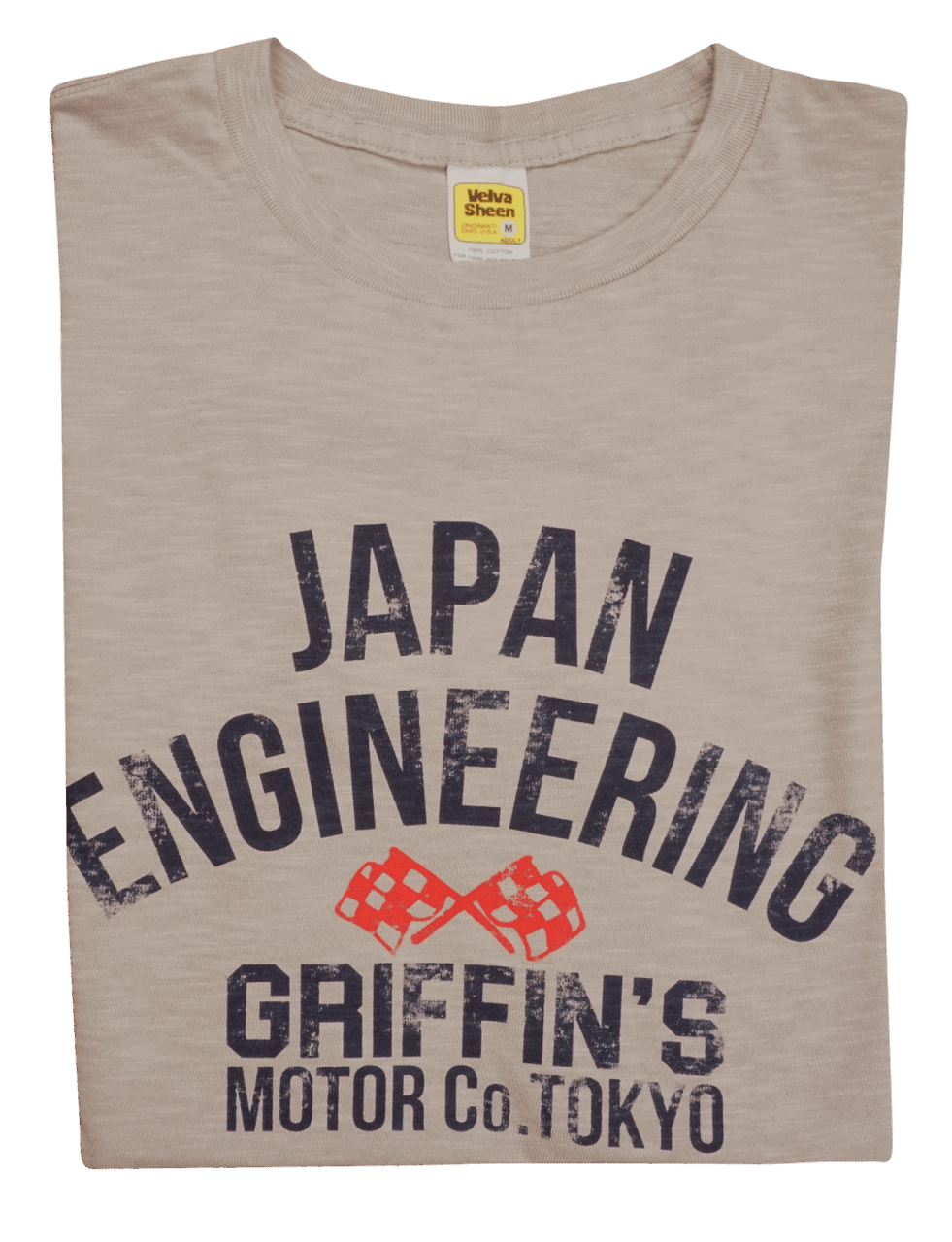 Velva Sheen Japan Engineering Tee Gray