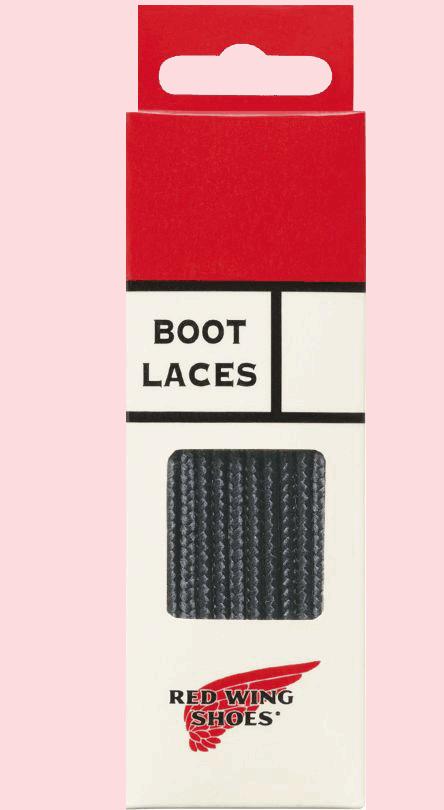 """Red Wing Lace Taslan 48"""" black"""