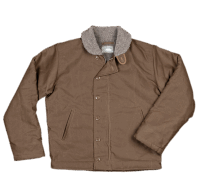 Pike Brothers 1944 N1-Deck Jacket khaki gray waxed