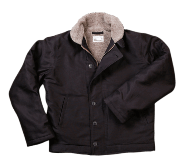 Pike Brothers 1944 N1-Deck Jacket Faded Black