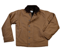 Pike Brothers 1944 N1-Deck Jacket Khaki Brown Waxed
