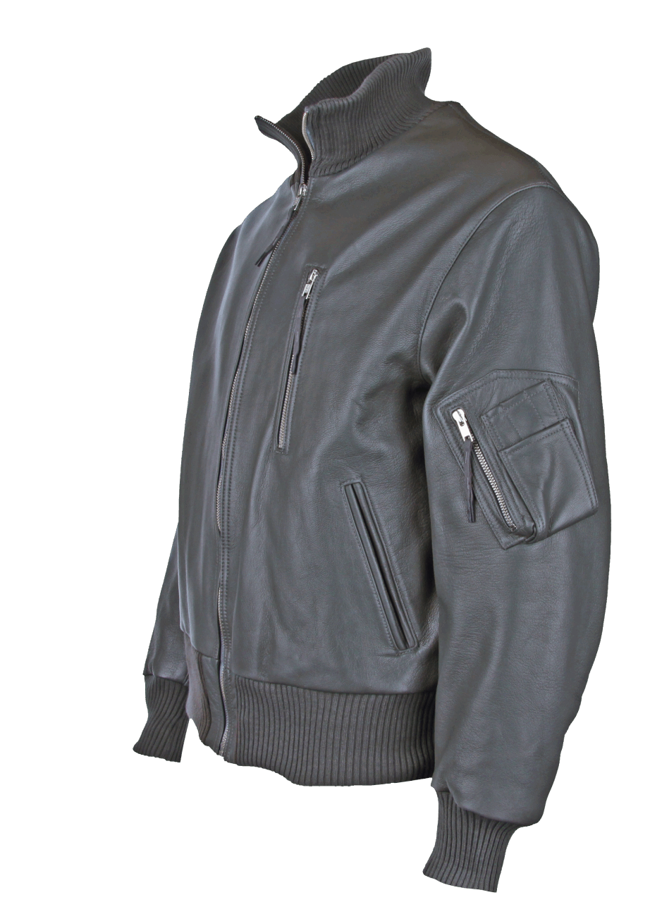 Modeka BW-Pilotenjacke, mit Schubtasche - grau
